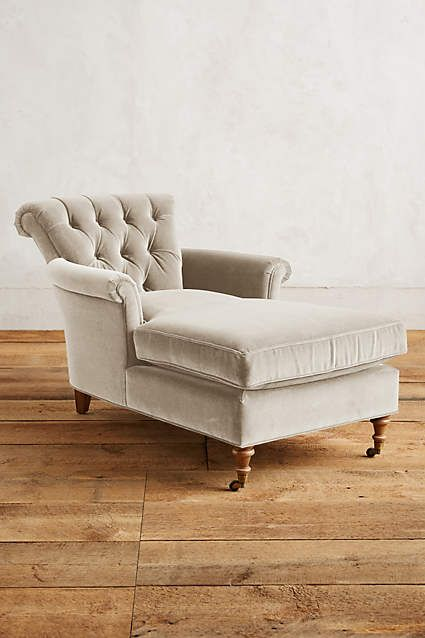 Velvet Gwinnette Chaise Lounge - anthropologie.com
