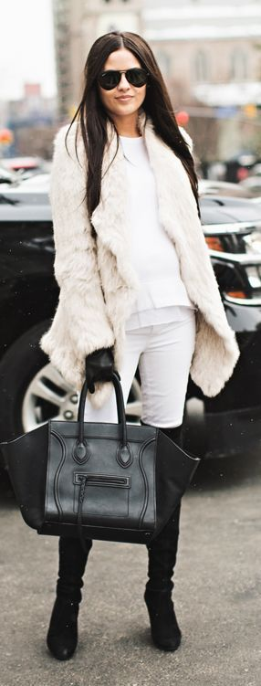 Black And Whites Winter Outfit.