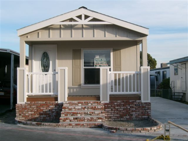 Side porch add step down level home sweet home pinterest for Single wide mobile homes with front porches