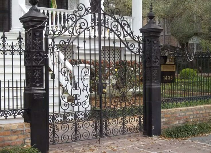 New Orleans Fence Wrought Iron Pinterest