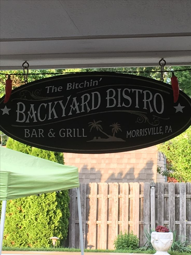 The Bitchinu0027 Backyard Bistro! | Pinterest | Backyard