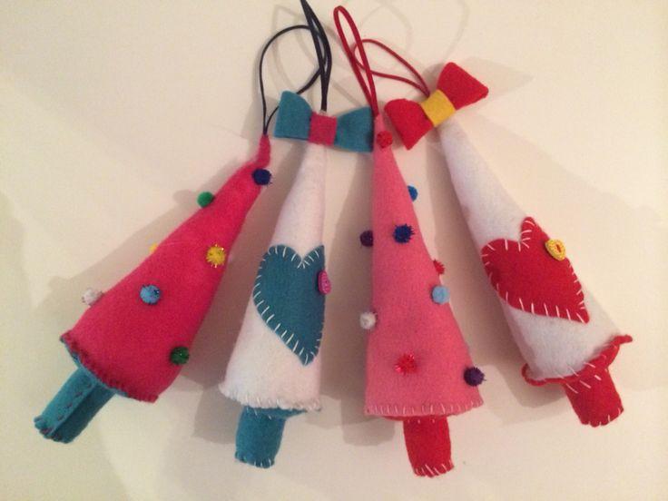 Handmade Felt Tree Ornaments