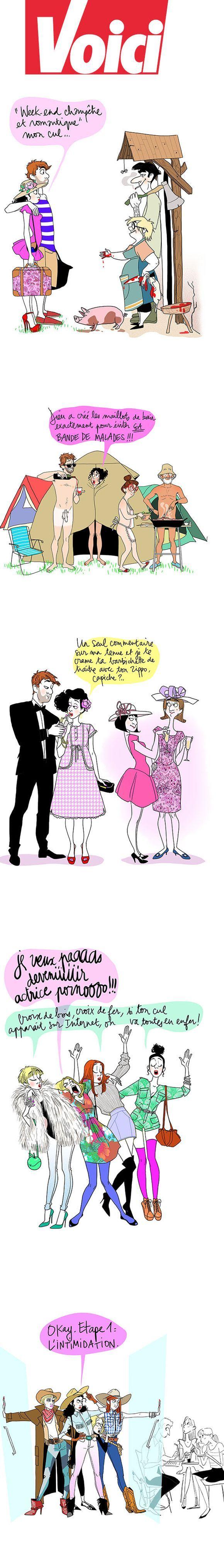 Les illustrations pour Voici de Margaux Mottin :) je m'en lasse pas ...