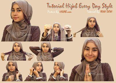 Tutorial Hijab Segi Empat Untuk Wajah Bulat Tutorial hijab