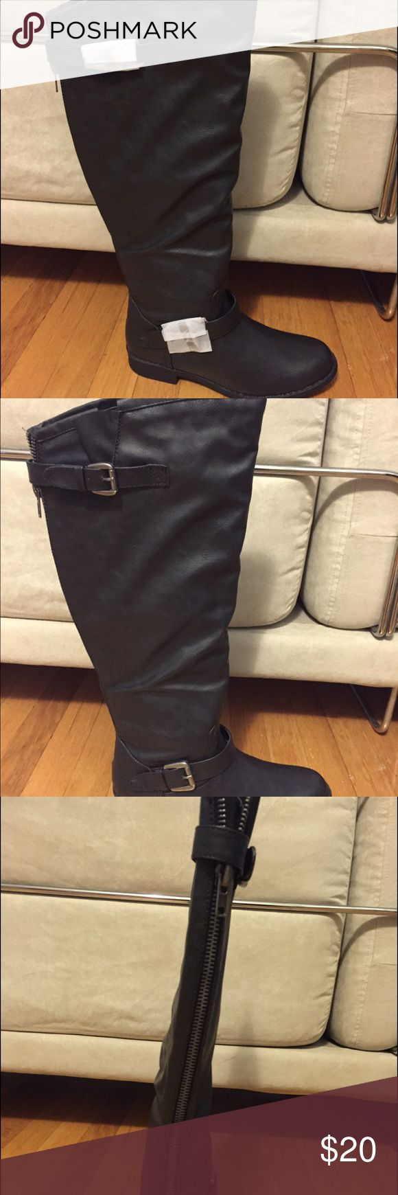 Just Fab wide calf, over-the-knee boots Black, never worn, original box, wide calf boots JustFab Shoes Over the Knee Boots