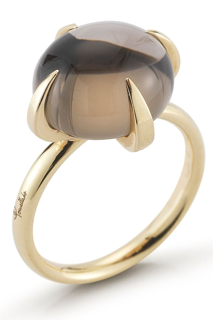 I always wanted a smokey quartz ring, this is beautiful just for its simple lines and elegance.  Vintage Pomellato Smoky Quartz Ring