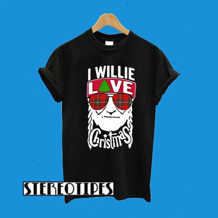 I Willie Love Christmas Willie Nelson T-Shirt   Willie ...