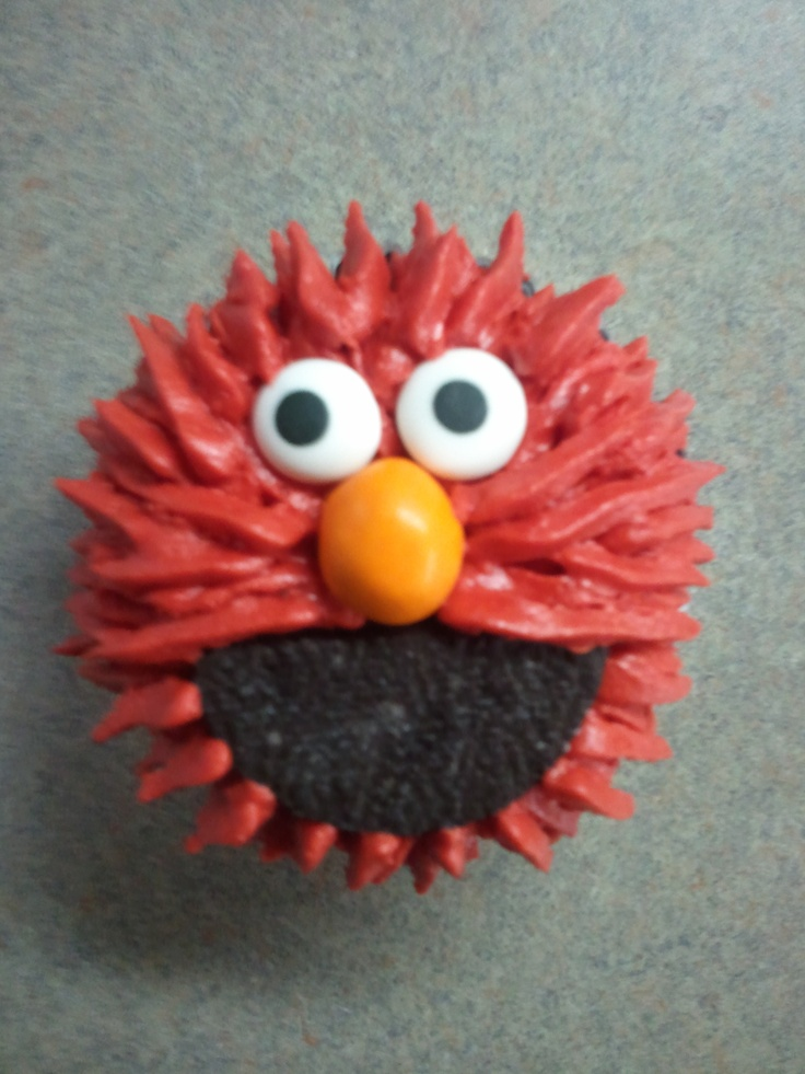 Elmo cupcakes for my 2 year old sons birthday!