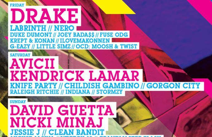 Drake, Nicki Minaj and Kendrick Lamar are  headlining Wireless Festival 2015 #MusicNews #Drake #NickiMinaj #KendrickLamar