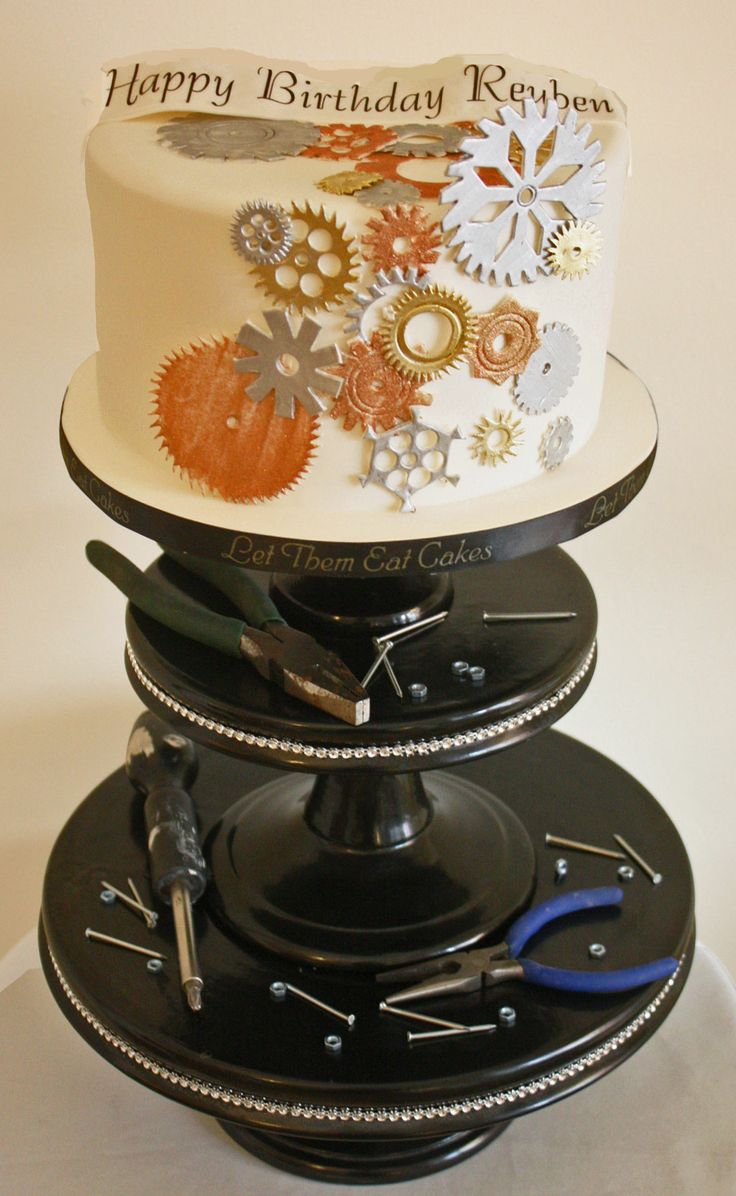 Engineering Party Ideas : Mechanic men cake ideas was for a mechanical e