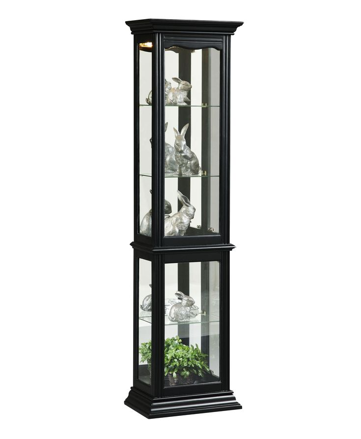Lovely White Glass Curio Cabinet