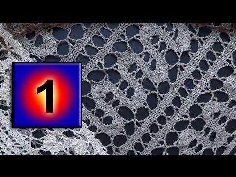 1 - How to crochet Bruges lace tutorial Как вязать брюггские кружева -- урок вязания 1 - YouTube