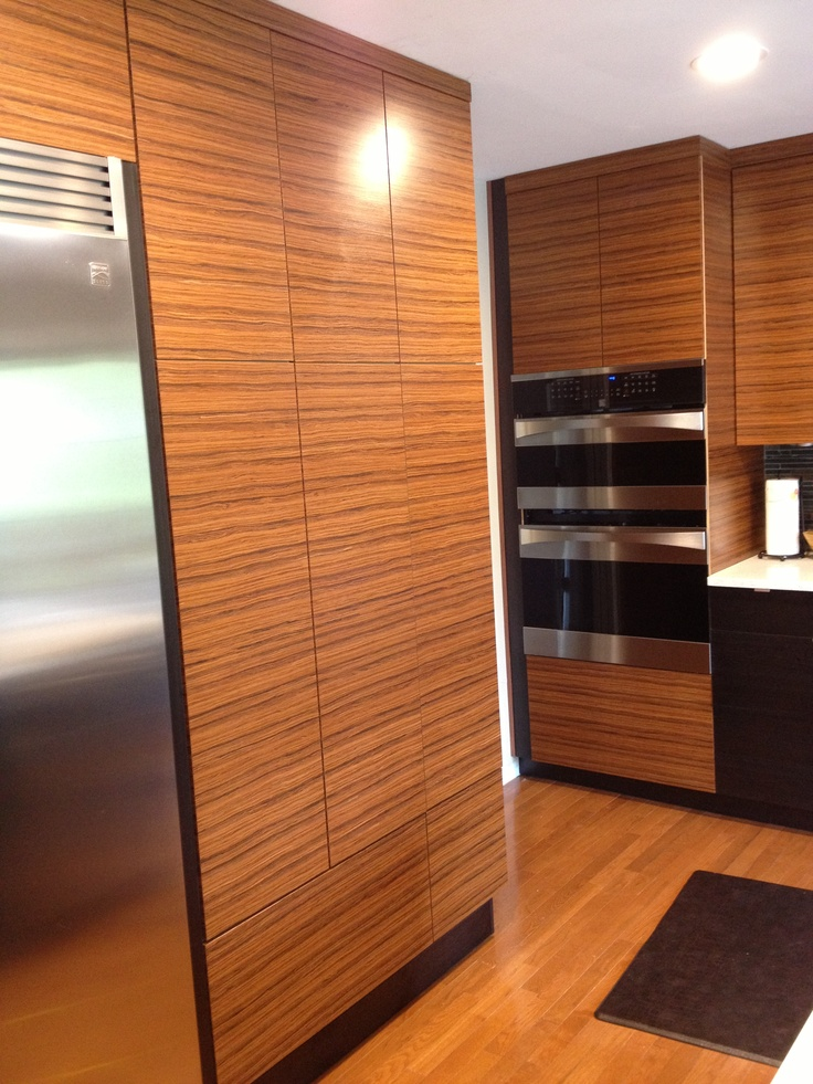 Kitchen Cabinets Made With Reconstituted Quarter Cut Rosewood From Wisewood  Veneer.