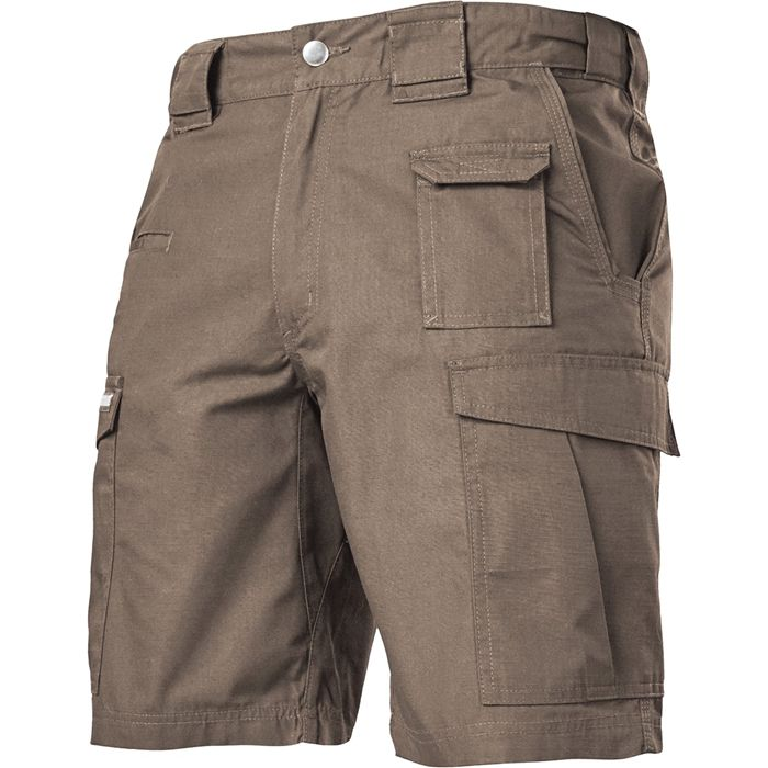 """Cover: BLACKHAWK! Men's Pursuit Tactical Shorts, fatigue. • Durable Polyester/Cotton Blend Ripstop Fabric • Teflon ® Shield + Protected • 10"""" inseam • Action Waistband • Magazine Compartments Inside Cargo Pockets"""