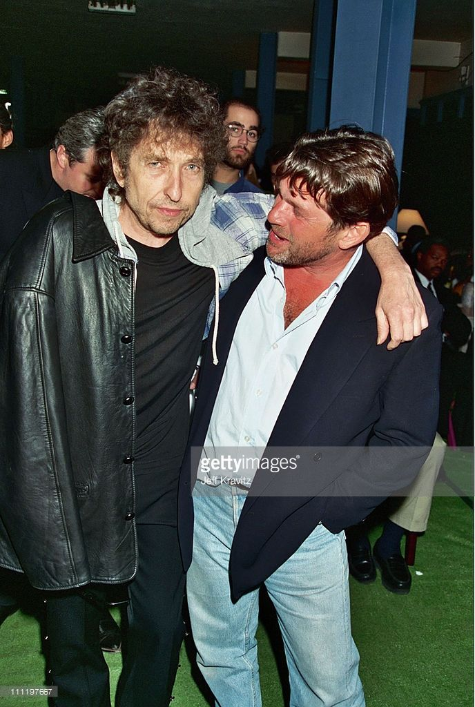 Bob Dylan and Jann Wenner during Grand Opening of Rock and Roll Hall of Fame…