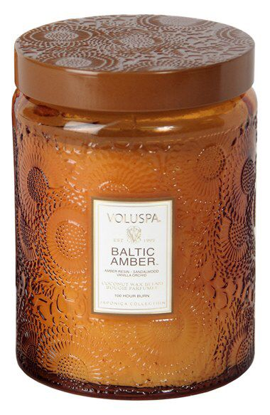 Check out my latest find from Nordstrom: http://shop.nordstrom.com/S/3734507  Voluspa Voluspa 'Japonica - Baltic Amber' Large Embossed Jar Candle  - Sent from the Nordstrom app on my iPhone (Get it free on the App Store at http://itunes.apple.com/us/app/nordstrom/id474349412?ls=1&mt=8)