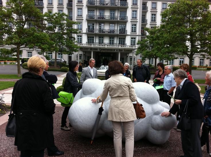 Besuch der Skulpturenaustellung Bad Ragartz in Bad Ragatz am 1. Juni 2012