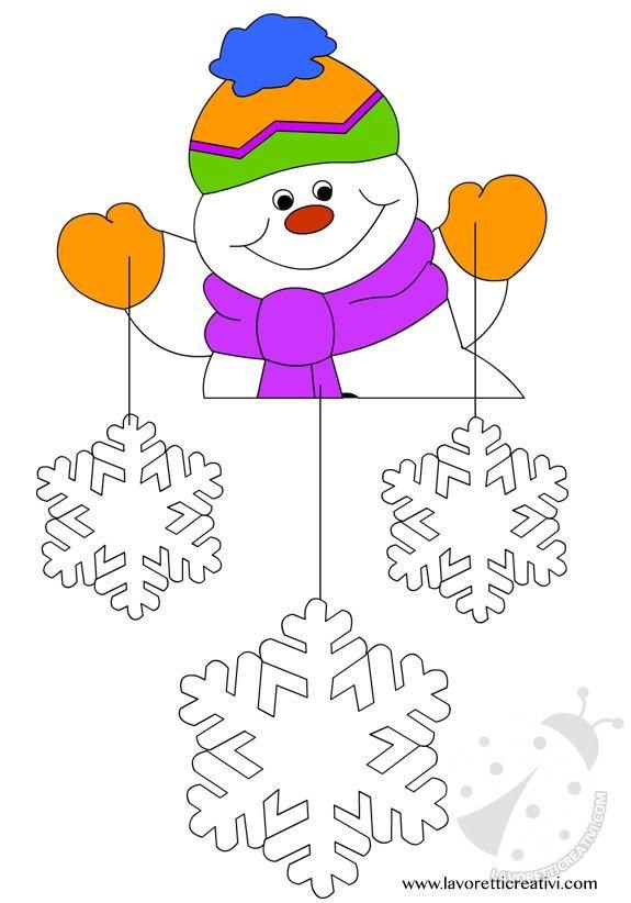 Pendente con Babbo Natale e stelle da attaccare sulle finestre o sulle pareti della classe nel periodo natalizio. DECORAZIONI NATALE AULA SCUOLA Babbo Nata