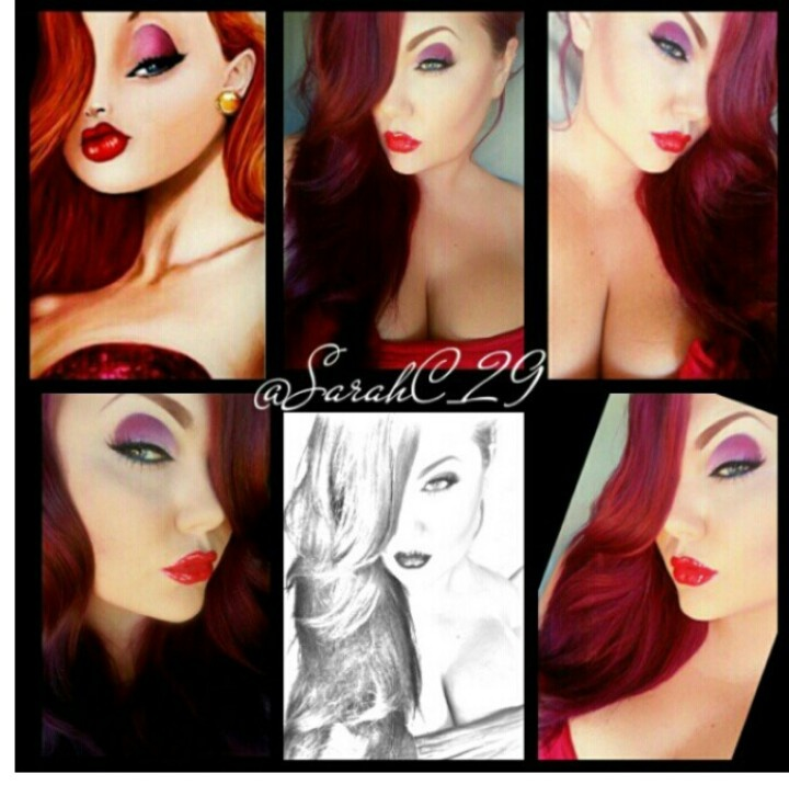 ♡ Jessica Rabbit make up look - Rachel Vickers Make up artist - check her work out, it's amazing...x