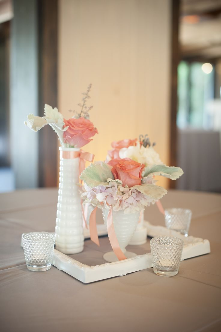 Best milk glass centerpieces images on pinterest