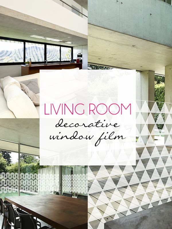 Living Room Decorative Window Film