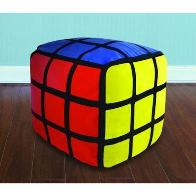 Puff Cubo de Rubik Asiento de Peluche   Peluches Originales