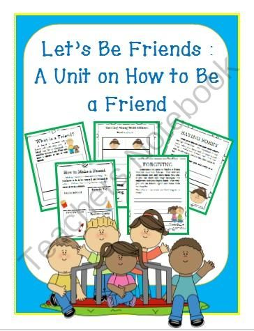 FRIENDSHIP UNIT- Kindergarten/1st/2nd- 3-Weeks Worth of Activities from First Grade Shashay on TeachersNotebook.com -  (17 pages)  - This extensive packet includes all you need for two to three-week's worth of ELA and Social Studies instruction on friendship and how to be a friend. Activities are fun, engaging, and meaningful. Students will be able to interact with each other as w
