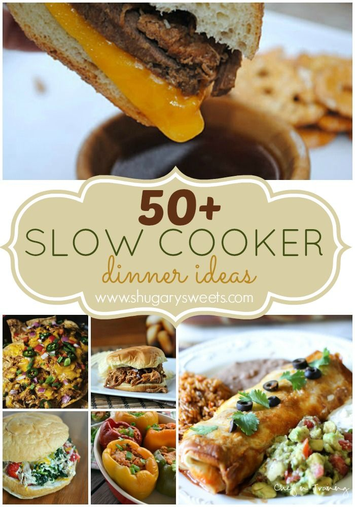 50+ Slow Cooker Dinner Ideas: a great collection of recipes in one place!: Crock Pot, Cooker Dinner, Slowcooker, Dinner Ideas, Crockpotrecipes, Cooker Meal, Slow Cooker, Crockpot Recipe, Crockpot Meal