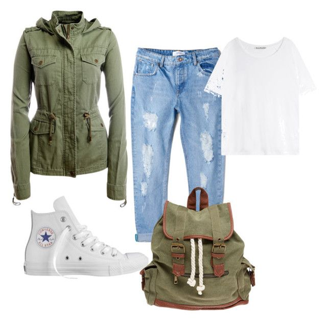 """""""Go back to school"""" by primsus on Polyvore featuring Aéropostale, MANGO, Converse, Wet Seal and Acne Studios"""