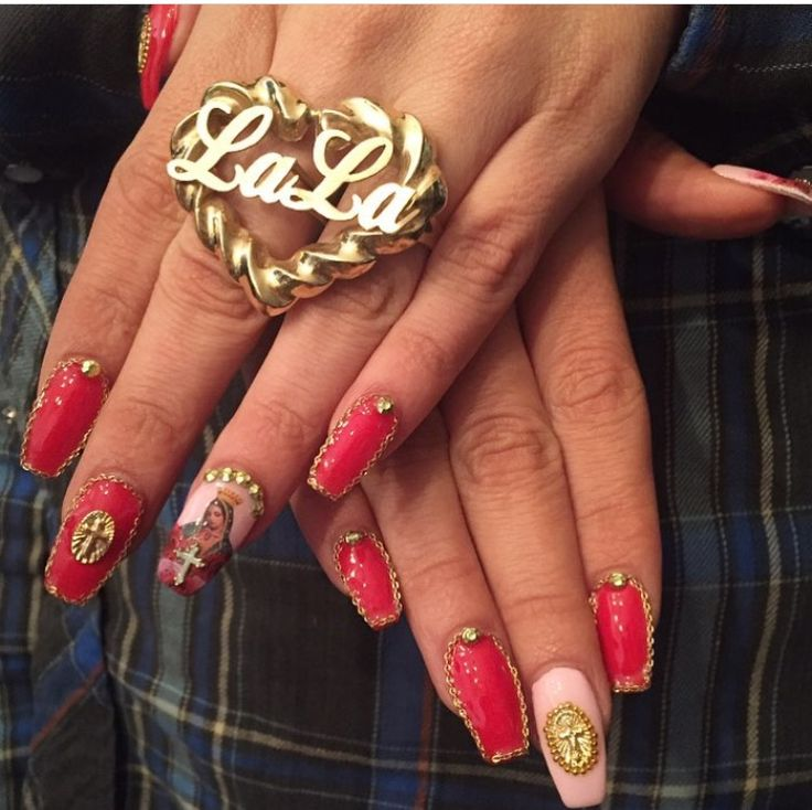 11 best Gangsta Nails images on Pinterest | Nail decorations, Heels ...