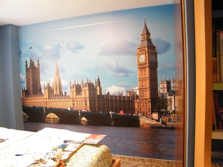 vinilo decorativo pared completa en habitaci n juvenil en