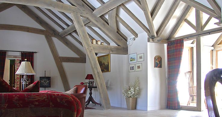 Sling-braced oak frame house, Aberdeenshire