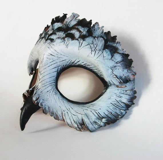 Snowy Owl Leather Mask by AnnieLibertini on Etsy, $85.00