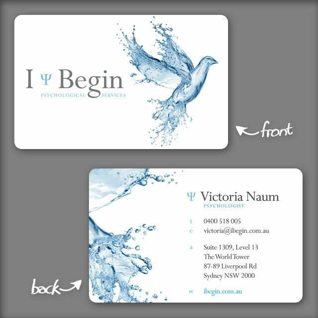 17 best business cards images on pinterest business cards carte i begin businesscard design psychologist branding dove water printing colourmoves Choice Image