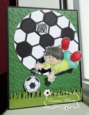 ONECRAZYSTAMPER.COM: Game On by Leanne using High Hopes Stamps Gabriel Loves Soccer (S525)