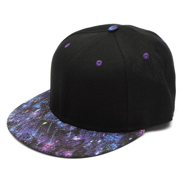 Unisex Baseball Flat Bill Galaxy Hat Hippie Snapback HipHop Adjustable... (£5.23) ❤ liked on Polyvore featuring accessories, hats, galaxy snapback hats, adjustable hats, summer hats, ball cap and snapback cap