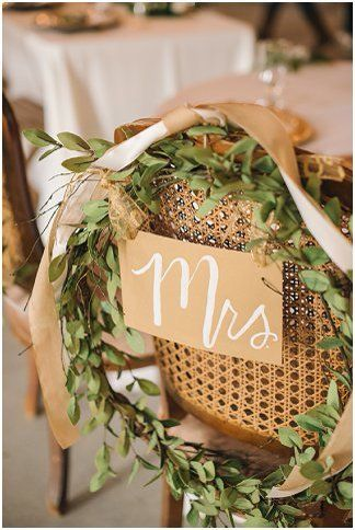 Mrs. wedding chair sign | Amanda Adams Photography | see more at http://fabyoubliss.com