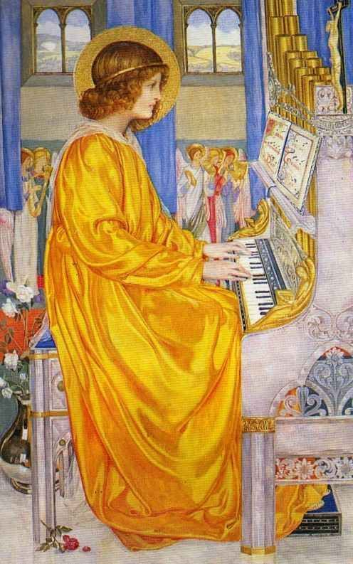 ♪ The Musical Arts ♪ music musician paintings - St. Cecelia | Kate Elizabeth Bunce