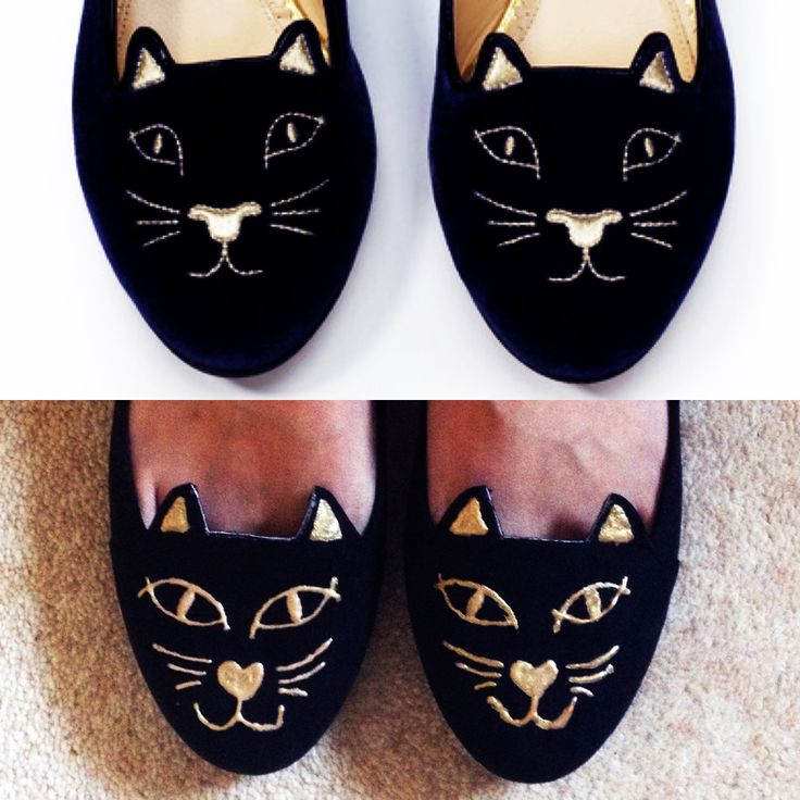 Nic In DisguiseDIY Charlotte Olympia Kitty Cat Flats Foot