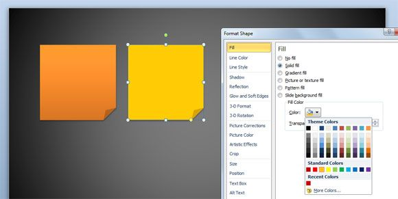 How to Add a Solid Fill to Any Shape in PowerPoint 2010