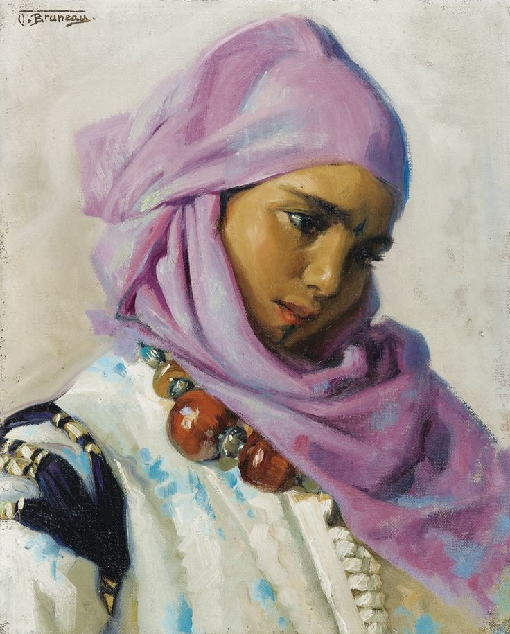 Young Woman with Amber Necklace - Odette Bruneau