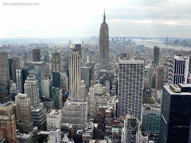 New York skyline - view from the Rockefeller Center