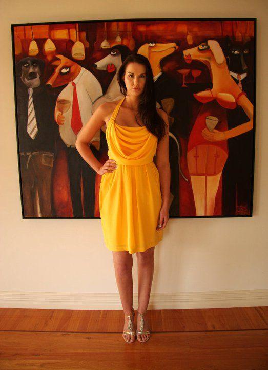 Short cowl neck dress http://www.arcarocouture.com.au/