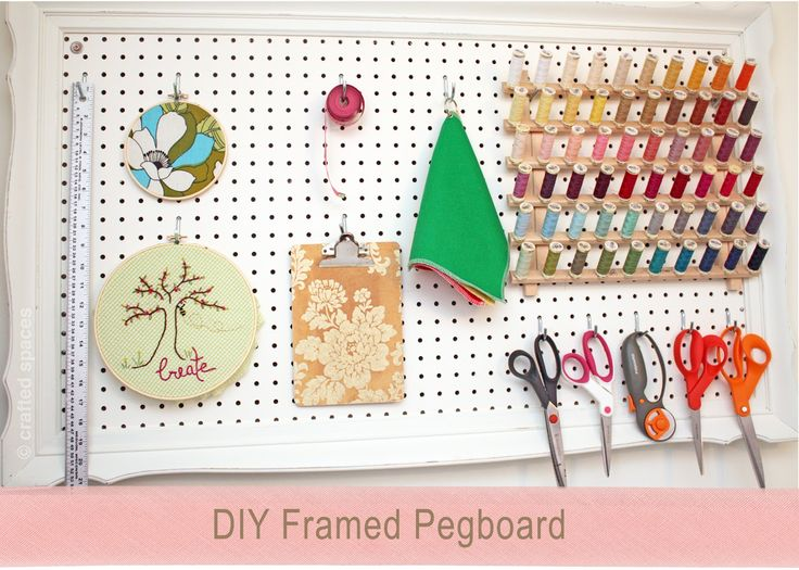 34 best bookcases images on pinterest book children and for Diy pegboard craft organizer