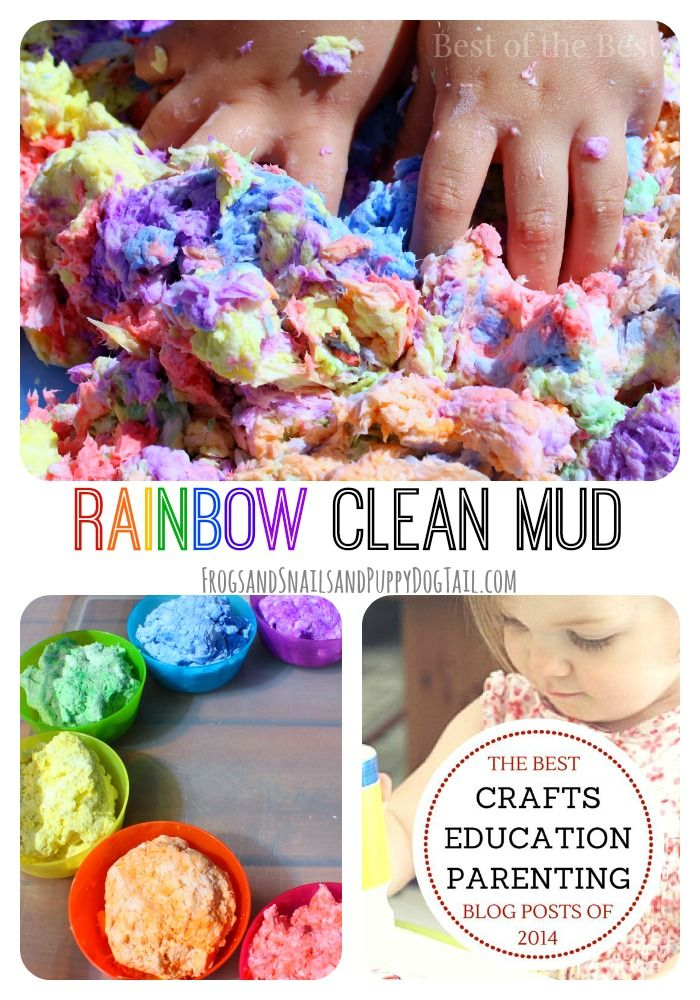 Best of the Best Kid Posts 2014 - FSPDT **Rainbow Clean Mud Play Recipe- easy to make and so much fun for multiple ages!