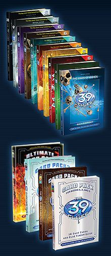 The 39 Clues series is a book series I read as a kid. The series is still on going and has a movie in the making. There are many authors for this. The 39 Clues - Wikipedia, the free encyclopedia