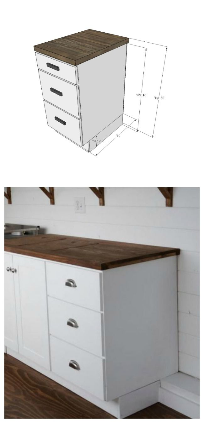 Kitchen with base cabinets only - Easy To Make Kitchen Cabinets