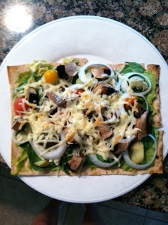 My Quest to Become Plant Strong: Lavosh Pizza