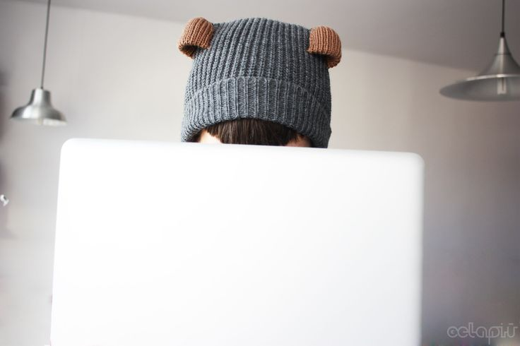 Testing.. testing... - just before the shipping. Custom made Teddy Beanie is on its way to Canada!