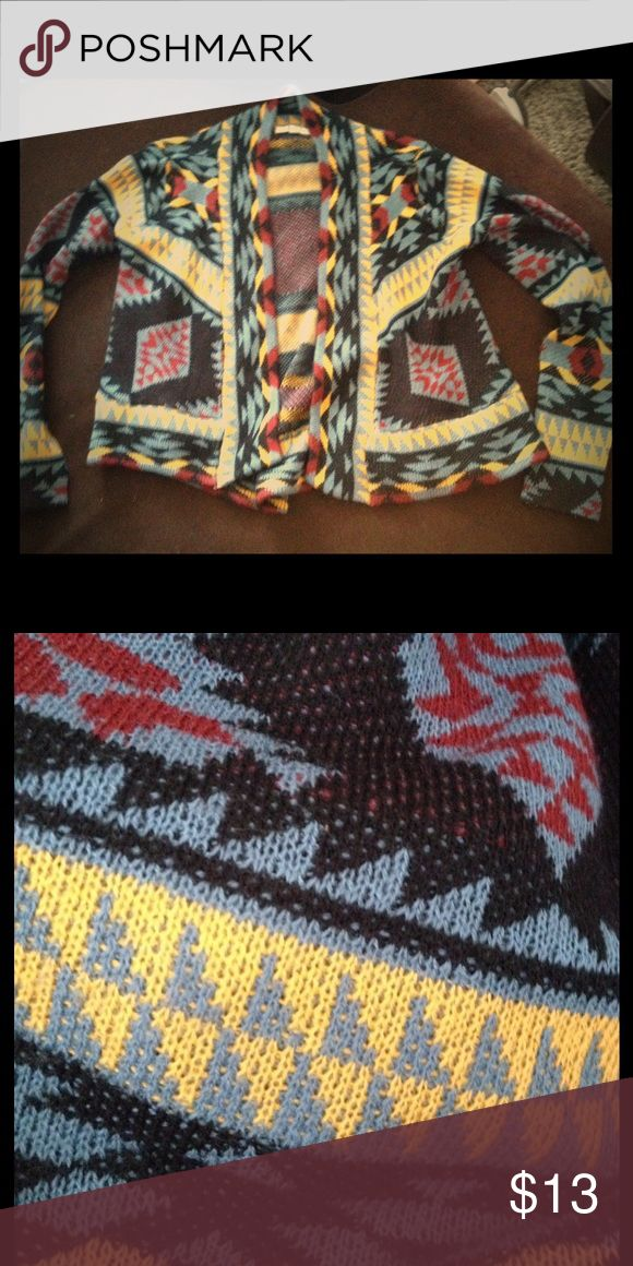 Tribal Print Sweater Tribal Print Cardi with beautiful colors and detail Sweaters Cardigans